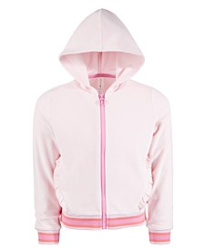 Toddler Girls Velour Ruffle Zip Hoodie, Created for Macy's