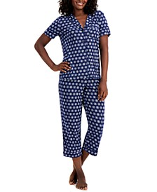 Plus Size Capri Pant Pajama Set, Created for Macy's
