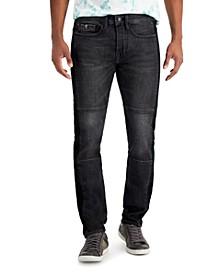 Men's Mesh-Trimmed Skinny Jeans