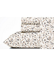 Leopard Cotton Percale Sheet Set