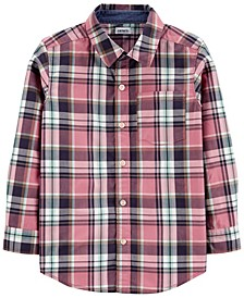 Little Boy Plaid Poplin Button-Front Shirt