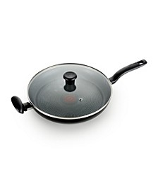 "Culinaire Nonstick 13.25"" Family Fry Pan with lid"