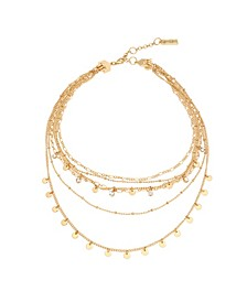 Stone Charm Layered Necklace Set