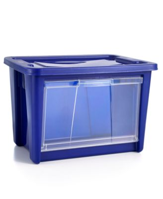 rubbermaid large easy access storage bin