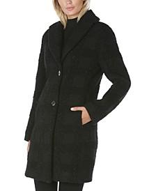 Lurex Plaid Walker Coat, Created for Macy's
