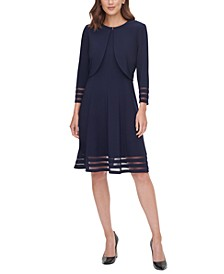 Petite Illusion-Stripe Jacket & Dress