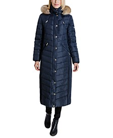 Faux-Fur Hooded Maxi Down Puffer Coat, Created for Macy's