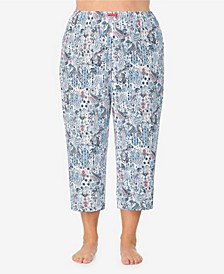 Women's Plus Size Cropped Pajama Pant