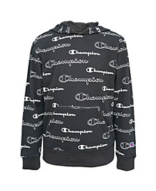 Little Boys AOP Shadow Script Hoodie