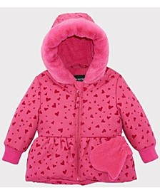 Rothschild Baby Girls Peplum Jacket With Mittens