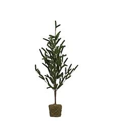 """60"""" Faux Pine Tree In Moss Base"""