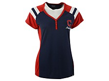 Women's Cleveland Indians Triple Play Henley Shirt