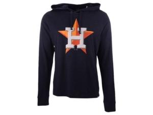 '47 Brand Men's Houston Astros Imprint Club Long Sleeve Hooded T-Shirt