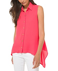Sleeveless Handkerchief-Hem Top, Regular & Petite Sizes