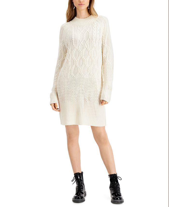 Sun + Moon - Cable-Knit Sweater Dress