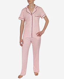 Women's Soft Knit Printed Pajama Set
