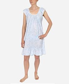 Cotton Paisley Print Nightgown