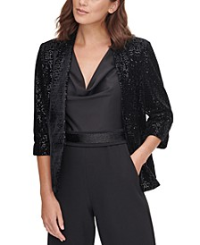 Sequinned Velvet Jacket