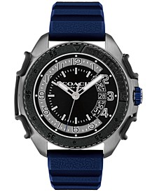 Men's C001 Blue Silicone Strap Watch 45mm