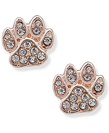 Pave Paw Stud Earring