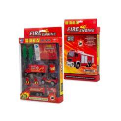 Mag-Genius Mini Vehicle Fire Rescue Truck 10-Piece Starter Toy Set