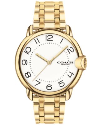 코치 여성 손목 시계 COACH Womens Arden Gold-Plated Bracelet Watch 36mm