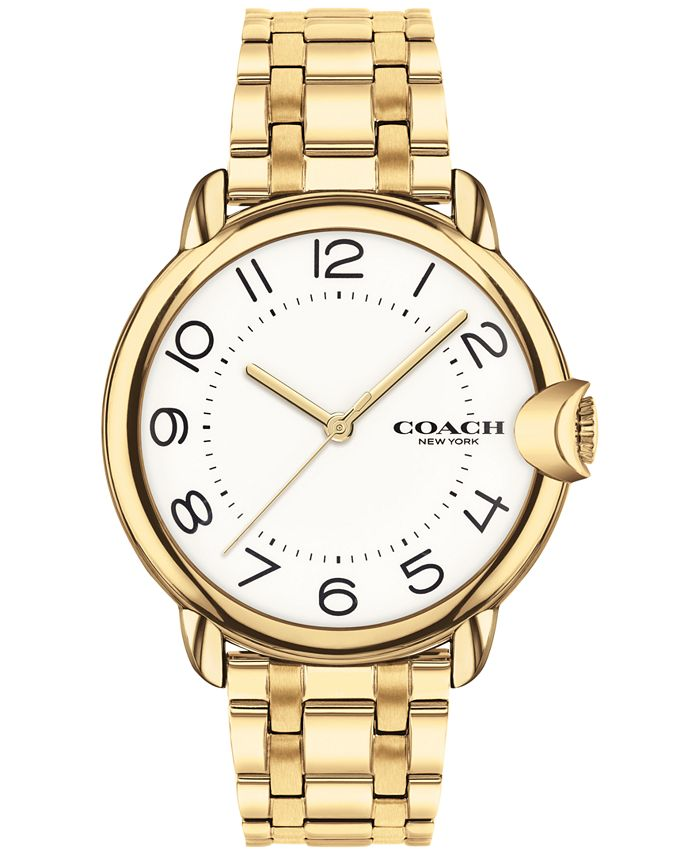 COACH - Women's Arden Gold-Plated Bracelet Watch 36mm