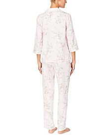 3/4 Sleeve Sateen Pajama Set