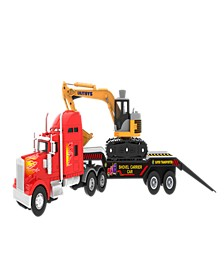 Mag-Genius Big-Daddy Big Rig Low-Boy Transport with Excavator and Interchange Kit Toy