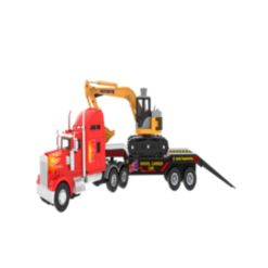 Mag-Genius Big-Daddy Big Rig Low-Boy Transport with Excavator and Interchange Kit Toy