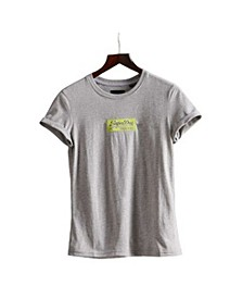 Women's Micro Embroidered Box T-shirt