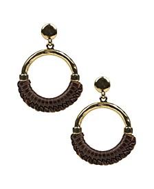 Margaux Leather Doorknocker Earrings