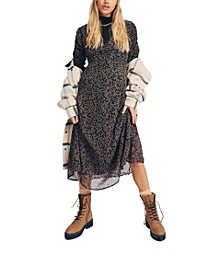 Woven Carrie Short Sleeve Midi Dress