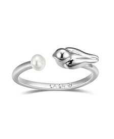 Bird with Imitation Pearl Ring