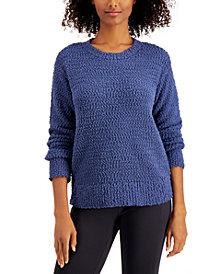 Style & Co Teddy Bouclé Sweater, Regular & Petite, Created for Macy's