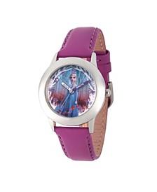 Disney Frozen 2 Elsa Girls' Stainless Steel Watch 32mm