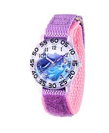 Disney Princess Cinderella Girls' Clear Plastic Watch 32mm