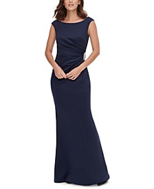 Petite Embellished-Waist Gown
