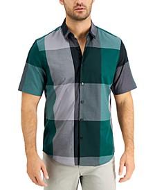 Men's Block Check Shirt, Created for Macy's