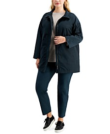 Plus Size Anorak Coat