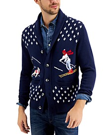 Men's Novelty Ski Cardigan, Created for Macy's