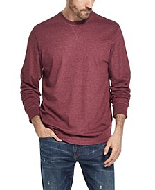 Men's Long Sleeve Brushed Jersey Crew T-shirt