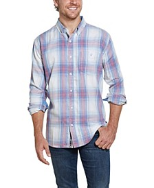 Men's Burnout Flannel Shirt