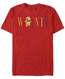 Men's Pooh Fashion Short Sleeve T-Shirt