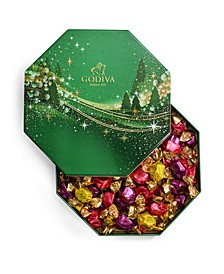 Holiday G Cube Chocolate Truffle Tin, 50 Piece Set