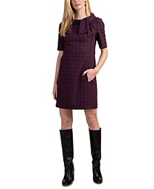 Printed Delilah Tie-Collar Dress