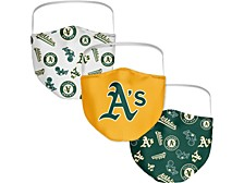 Oakland Athletics 3-Pk. Face Mask