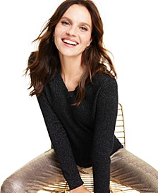 Cashmere-Metallic V-Neck Sweater, Regular & Petite Sizes, Created for Macy's