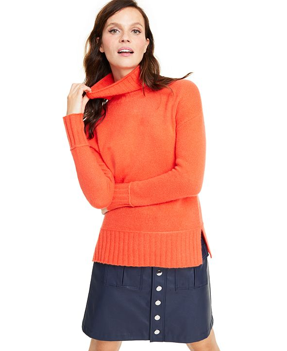 Charter Club Cashmere Rib-Trim Turtleneck Sweater, Regular & Petite Sizes, Created for Macy's