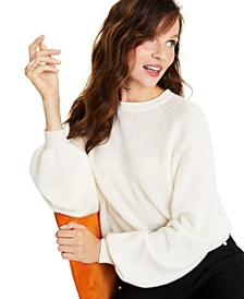 Cashmere Brushed Blouson-Sleeve Sweater, Created for Macy's